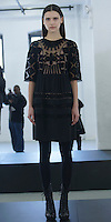 "Catherine Malandrino Fall/Winter 2013, LE NORMANDIE.IANA: BLACK ""ROCKEFELLAR"" TULLE VELVET EMBROIDED DRESS"