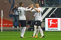 celebrate the goal, Torjubel zum 1:0 von Ante Rebic (Eintracht Frankfurt) mit Kevin-Prince Boateng (Eintracht Frankfurt)- 30.09.2017: Eintracht Frankfurt vs. VfB Stuttgart, Commerzbank Arena