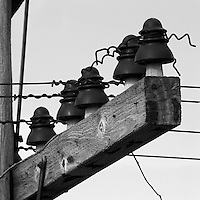 Abandoned Telegraph Lines Along Railway