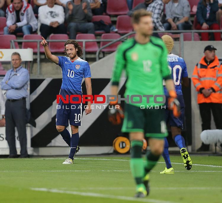 DFB Freundschaftsl&auml;nderspiel, Deutschland vs. USA<br /> Mix Diskerud (USA) freut sich nach seinem Tor zum 1:1<br /> <br /> Foto &copy; nordphoto /  Bratic