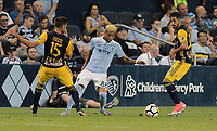Kansas City, KS - Wednesday September 20, 2017: 	Kévin Oliveira during the 2017 U.S. Open Cup Final Championship game between Sporting Kansas City and the New York Red Bulls at Children's Mercy Park.