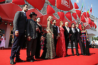 Venice, Italy - September 05: Gretzky, guest, Ahna O'Reilly, director James Franco, Jacob Loeb, Scott Haze, Elissa Shay attend the 'The Sound And The Fury' premiere at Palazzo Del Cinema, during the 71st Venice Film Festival on September 05, 2014 in Venice, Italy. (Photo by Mark Cape/Inside Foto)<br /> Venezia, Italy - September 05: Gretzky, guest, Ahna O'Reilly, director James Franco, Jacob Loeb, Scott Haze, Elissa Shay presenti alla premiere di 'The Sound And The Fury' al Palazzo Del Cinema, durante del 71st Venice Film Festival. Settenbre 05, 2014 Venezia, Italia. (Photo by Mark Cape/Inside Foto)