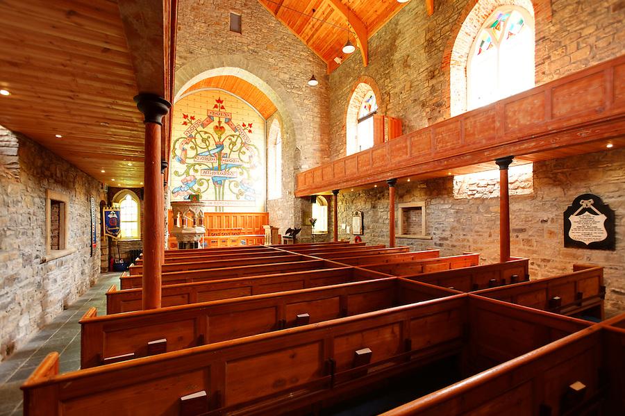 Interior of St. Columba's Church, Drumcliffe, County Sligo, Republic of Ireland