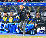 19.01.2020, OLympiastadion, Berlin, GER, DFL, 1.FBL, Hertha BSC VS. Bayern Muenchen, <br /> DFL  regulations prohibit any use of photographs as image sequences and/or quasi-video<br /> im Bild Cheftrainer (Head Coach) Juergen Klinsmann (Hertha BSC Berlin)<br /> <br />       <br /> Foto © nordphoto / Engler