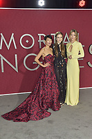 Jihae, Hera Hilmar and Leila George at the premiere of 'Mortal Engines at the  Regency Village Theatre in Westwood, California on December 5, 2018. Credit: Action Press/MediaPunch ***FOR USA ONLY***