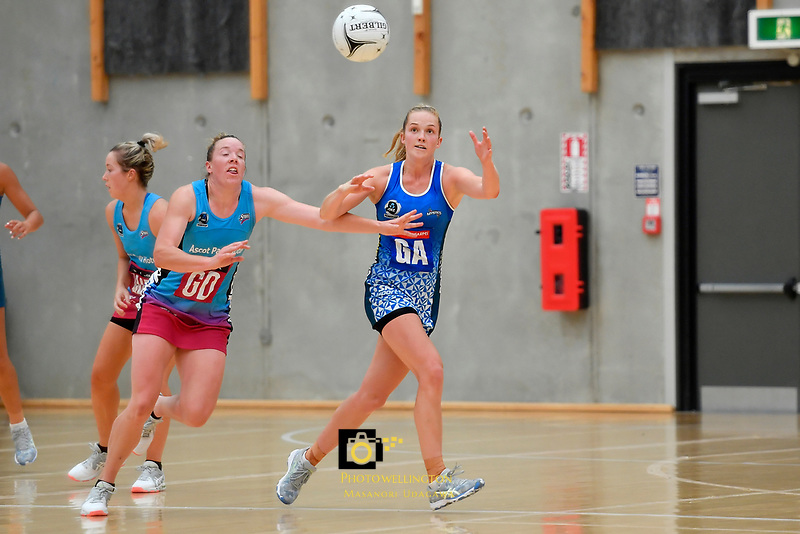 Mystics&rsquo; Jamie Hume in action during the Netball Pre Season Tournament - Mystics v Steel at Ngā Purapura, Otaki, New Zealand on Saturday 9 February  2019. <br /> Photo by Masanori Udagawa. <br /> www.photowellington.photoshelter.com
