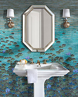 Lily Pads jewel glass mosaic by Kevin O'Brien for New Ravenna Mosaics.