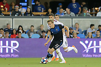SAN JOSE, CA - JULY 06: Tommy Thompson #22 during a Major League Soccer (MLS) match between the San Jose Earthquakes and Real Salt Lake on July 06, 2019 at Avaya Stadium in San Jose, California.