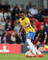 Gabriel of Brazil in action during the International match between England U20 and Brazil U20 at the Aggborough Stadium, Kidderminster, England on 4 September 2016. Photo by Andy Rowland / PRiME Media Images.