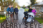 Friends of Tralee to Fenit Greenway are planning a walk this Sunday at 2.30pm from St Brendan's Church Tralee to Mounthawk tohighlight the need for the Greenway to be developed. Pictured were: Mike O'Neill (Chair), Tom O'Grady, Joe Cotter, Colin Shanahan, Michelle and Odhran Kissane and Kathy O'Hara with Feidhlim O'Donoghue.