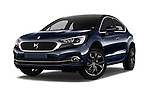 Stock pictures of low aggressive front three quarter view of 2016 Ds DS4 Opera-Blue 5 Door Hatchback Low Aggressive