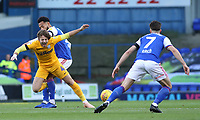 Preston North End's Ben Pearson is fouled by Ipswich Town's Jordan Roberts<br /> <br /> Photographer David Shipman/CameraSport<br /> <br /> The EFL Sky Bet Championship - Ipswich Town v Preston North End - Saturday 3rd November 2018 - Portman Road - Ipswich<br /> <br /> World Copyright &copy; 2018 CameraSport. All rights reserved. 43 Linden Ave. Countesthorpe. Leicester. England. LE8 5PG - Tel: +44 (0) 116 277 4147 - admin@camerasport.com - www.camerasport.com