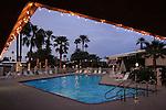 Desert Braemar pool at dusk
