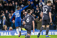 Callum Hudson-Odoi of Chelsea celebrates his goal during the The FA Cup Fourth Round match between Chelsea and Sheffield Wednesday at Stamford Bridge, London, England on 27 January 2019. Photo by Adamo Di Loreto.<br /> <br /> Editorial use only, license required for commercial use. No use in betting, games or a single club/league/player publications.