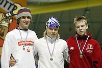 SCHAATSEN: HEERENVEEN: IJsstadion Thialf, 04-03-2005, VikingRace, Hubert Hirschbichler (GER), Koen Verweij (NED), ©foto Martin de Jong