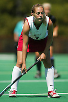 2 September 2005: Elizabeth Thompson during Stanford's 3-1 loss to the University of Iowa at the Varsity Turf Field in Stanford, CA.