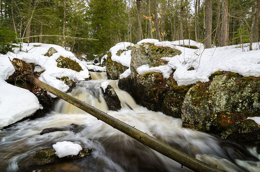 Early spring at Reany Creek Falls. Marquette, MI