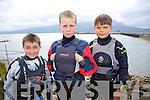 Jamie Venner, Ben Graf, Alex Leach enjoying The Fenit Sailing School Munster optimist Competition on Saturday