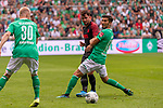 01.09.2019, wohninvest Weserstadion, Bremen, GER, 1.FBL, Werder Bremen vs FC Augsburg, <br /> <br /> DFL REGULATIONS PROHIBIT ANY USE OF PHOTOGRAPHS AS IMAGE SEQUENCES AND/OR QUASI-VIDEO.<br /> <br />  im Bild<br /> <br /> Marco Richter (FC Augsburg #23)v <br /> Nuri Sahin (Werder Bremen #17)<br /> <br /> Foto © nordphoto / Kokenge