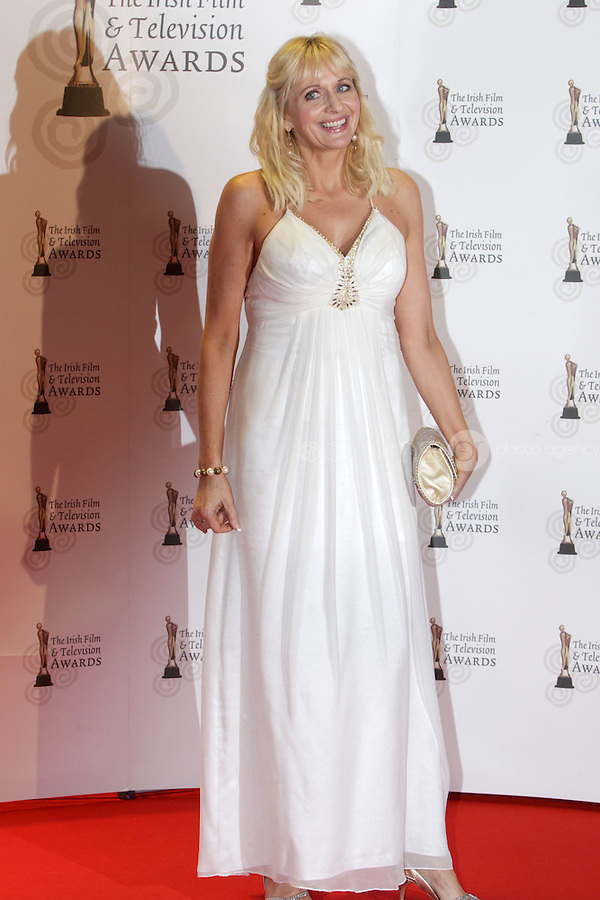 12/2/11 Miriam O'Callaghan on the red carpet at the 8th Irish Film and Television Awards at the Convention centre in Dublin. Picture:Arthur Carron/Collins