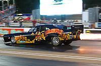 Jun 16, 2017; Bristol, TN, USA; NHRA jet funny car driver David Douthit during qualifying for the Thunder Valley Nationals at Bristol Dragway. Mandatory Credit: Mark J. Rebilas-USA TODAY Sports