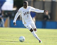Darren Mattocks #11of the University of Akron during the 2010 College Cup final against the University of Louisville at Harder Stadium, on December 12 2010, in Santa Barbara, California. Akron champions, 1-0.