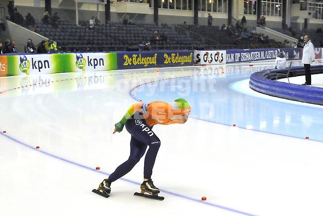HEERENVEEN - Schaatsen, IJsstadion Tialf, World Cup, 2011-2012, 02-12-2011, Pien Keulstra op de 5000 m in de B groep