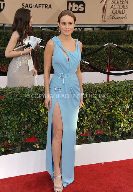 WWW.ACEPIXS.COM<br /> <br /> January 30 2016, LA<br /> <br /> Brie Larson arriving at the 22nd Annual Screen Actors Guild Awards at the Shrine Auditorium on January 30, 2016 in Los Angeles, California<br /> <br /> By Line: Peter West/ACE Pictures<br /> <br /> <br /> ACE Pictures, Inc.<br /> tel: 646 769 0430<br /> Email: info@acepixs.com<br /> www.acepixs.com
