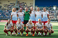 Seattle, WA - Wednesday, June 28, 2017: Chicago Red Stars starting eleven during a regular season National Women's Soccer League (NWSL) match between the Seattle Reign FC and the Chicago Red Stars at Memorial Stadium.