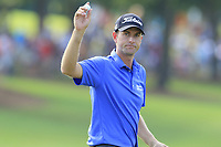 Local man Webb Simpson (USA) sinks his putt on the 18th green during Friday's Round 2 of the 2017 PGA Championship held at Quail Hollow Golf Club, Charlotte, North Carolina, USA. 11th August 2017.<br /> Picture: Eoin Clarke | Golffile<br /> <br /> <br /> All photos usage must carry mandatory copyright credit (&copy; Golffile | Eoin Clarke)