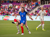 Orlando, FL - March 7, 2018: France defeated Germany 3-0 during the SheBelieves Cup at Orlando City Stadium.