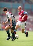 Mark Draper of Aston Villa on his debut - Barclays Premier League - Aston Villa v Manchester Utd - Villa Park Stadium - Birmingham - England - 19th August 1995 - Picture Sportimage
