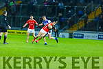 East Kerrys Niall O'Donoghue been fouled by Con Barrett Kerins O'Rahillys in the County Football Championship 3rd round on Saturday.