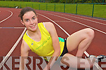 Eilish Fitzpatrick Gneeveguilla AC who has qualified to compete for Ireland after running the fiftheenth fastest 100metres ever by an Irish woman at the Cork CIT last week