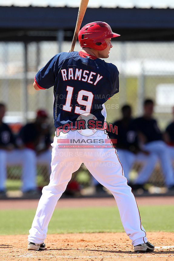 Washington Nationals outfielder Caleb Ramsey #19 during an Instructional League game against the national team from Italy at Carl Barger Training Complex on September 28, 2011 in Viera, Florida.  (Mike Janes/Four Seam Images)