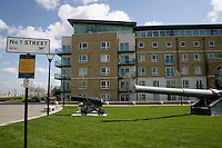 Apartments at the Royal Arsenal site, Woolwich, southeast London, UK