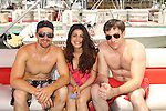 One Life To Live Josh Kelly, Shenaz Treasury, Tom Degnan - Celebrities take a break and enjoy themselves on the pontoon boat - SWSL Soapfest Charity Weekend May 14 & 15, 2011 benefitting several children's charities including the Eimerman Center providing educational & outfeach services for children for autism. see www.autismspeaks.org. (Photo by Sue Coflin/Max Photos)