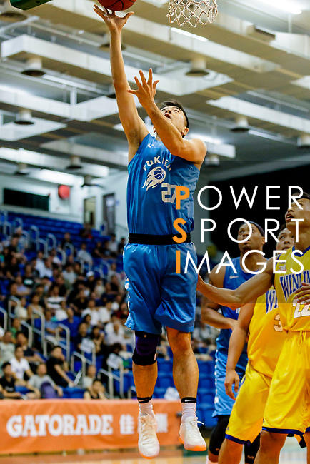 Lo Taylor Koon Kiu #27 of Fukien Basketball Team tries to score during the Hong Kong Basketball League game between Winling and Fukien at Southorn Stadium on May 29, 2018 in Hong Kong. Photo by Yu Chun Christopher Wong / Power Sport Images