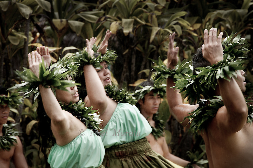 Hula performance at Volcanoes National Park, spring 2012