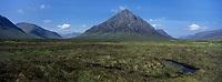 Europe/Grande-Bretagne/Ecosse/Highland/Env de Glencoe : Paysage de lande des Highlands