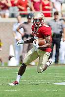 September 03, 2011:   Florida State Seminoles cornerback Greg Reid (5) returns a punt during 1st half action between the Florida State Seminoles and the Louisiana Monroe Warhawks at Doak S. Campbell Stadium in Tallahassee, Florida.