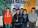 Ardee Celtic Under-9 players pictured at the club awards held in Ardee Parish Centre. Photo:Colin Bell/pressphotos.ie