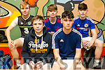 front l-r Stephan O'Carroll, Cian McGrath, Back l-r Liam Dowling, Tim Scanlon, Jacob Lucey at the Jack O'Sullivan Soccer Tournament, Ballybunion at the Community Centre on Friday
