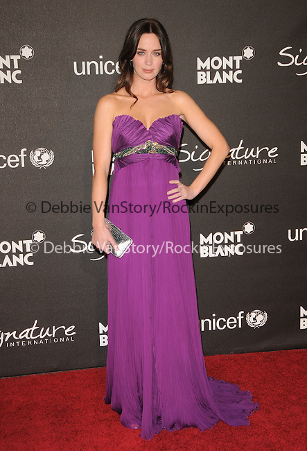 February 20,2009: Emily Blunt at The Montblanc Signature for Good Charity Gala held at Paramount Studios in Hollywood, California. Credit: RockinExposures
