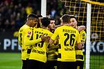 11.03.2018, Signal Iduna Park, Dortmund, GER, 1.FBL, Borussia Dortmund vs Eintracht Frankfurt, <br /> <br /> im Bild | picture shows:<br /> Marco Reus (Borussia Dortmund #11) trifft nach Vorlage von Christian Pulisic (Borussia Dortmund #22) zum 1:0 und jubelt mit ihm, Andre Schuerrle (Borussia Dortmund #21), Lukasz Piszczek (Borussia Dortmund #26), Mahmoud Dahoud (Borussia Dortmund #19), Manuel Akanji (Borussia Dortmund #16) und Oemer Toprak (Borussia Dortmund #36), <br /> <br /> <br /> Foto &copy; nordphoto / Rauch