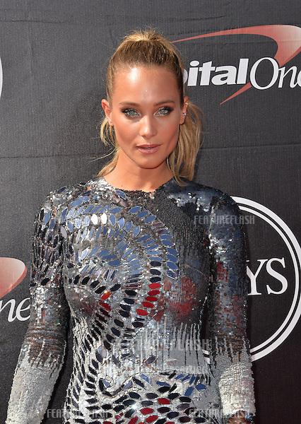 Model Hannah Davis at the 2015 ESPY Awards at the Microsoft Theatre LA Live.<br /> July 15, 2015  Los Angeles, CA<br /> Picture: Paul Smith / Featureflash