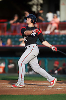 Richmond Flying Squirrels third baseman Christian Arroyo (22) at bat during a game against the Erie SeaWolves on May 27, 2016 at Jerry Uht Park in Erie, Pennsylvania.  Richmond defeated Erie 7-6.  (Mike Janes/Four Seam Images)