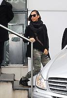 November 13th 2012 - Paris..Alicia Keys arriving at NRJ radio in Paris.<br /> (kdena/NortePhoto)