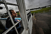 ICC Intercontinental Cup - Scotland V Netherlands at Mannofield (Aberdeenshire CC) Aberdeen - Scotland's Kyle Coetzer (Durham CCC) back in his home town for the match looks out from the dressing-room balcony at the covered ground and persistant rain - Picture by Donald MacLeod - 21.06.11 - 07702 319 738 - www.donald-macleod.com - clanmacleod@btinternet.com