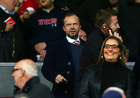 Manchester United Chief Executive Ed Woodward looks on from the stand during the Barclays Premier League match between Manchester United and Swansea City played at Old Trafford, Manchester on January 2nd 2016